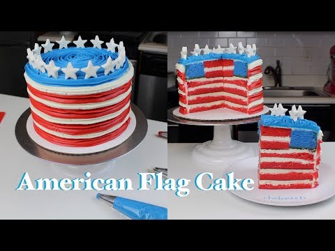 How To Make An American Flag Cake | CHELSWEETS