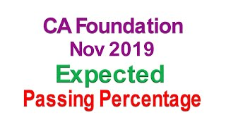 CA Foundation Pass Percentage Nov 2019 expected to be 40-45%
