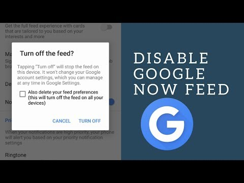 How to disable/enable Feed in New Google Now App