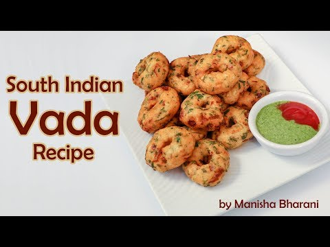 South Indian Vada Snacks Recipe Delicious Masala Vadai  By Manisha Bharani