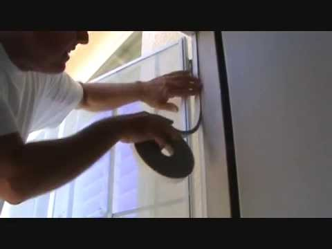 Installing weatherstripping on a security screen door?...Part 4