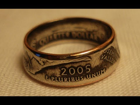 Making Double Sided Coin Rings, Smaller Womens Size