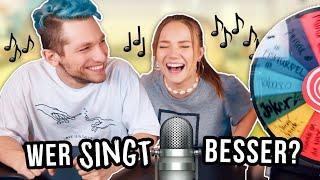 WER SINGT BESSER?😰Gesangsbattle gegen Rezo mit Bestrafung hehehe