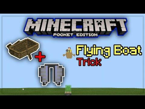 ✔Flying Boat Trick Minecraft Pocket Edition!
