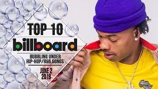 Top 10 • US Bubbling Under Hip-Hop/R&B Songs • June 2, 2018 | Billboard-Charts