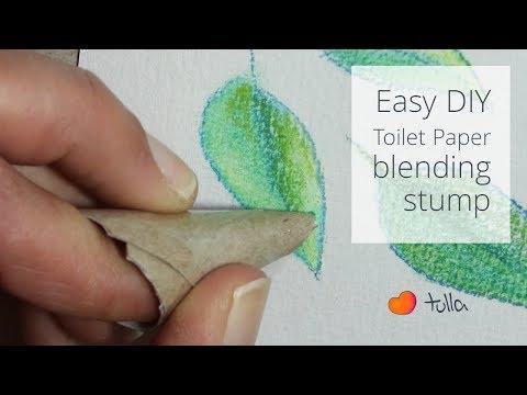 Easy DIY: Tiolet paper blending stump (tortillon)