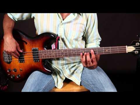 Bass Lessons - Basic 12 Bar Blues For Bass Guitar - Easy Basslines