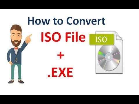 how to convert iso file to exe formate|| convert image software file to exe formate