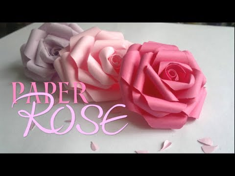 DIY PAPER ROSE!