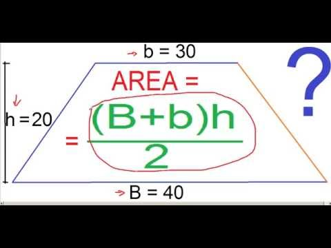 Math Course HOW TO FIND THE AREA OF A TRAPEZOID Algebra How to Calculate the Area of a trapezoid