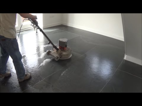 Cleaning and sealing of Brazilian slate tiles