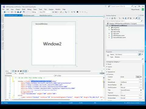 Open a new WPF Window on button click