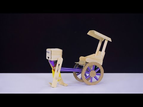 How to make Electric Rickshaw robot from DC Motor