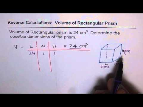 11 Find Dimensions of Rectangular Prism Given Its Volume