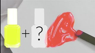How to mix with gel nail polish Living Coral Pantone's Color of the Year 2019