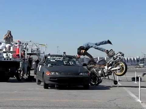 Motorcycle crash test #1 ARC-CSI 2008