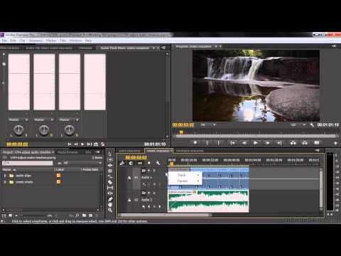 Adobe Premiere Pro CC Tutorial | Adjusting Audio Volume And Panning In The Timeline