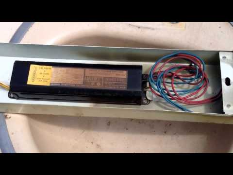 Scrapping a fluorecent light fixture with ballast SAFELY !!