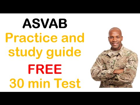 ASVAB STUDY GUIDE. Proven successful Plan with FREE ASVAB test
