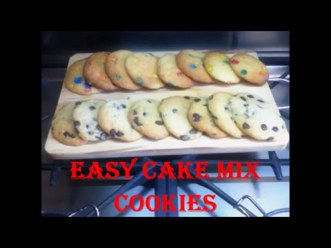 Easy Cake Mix Cookie Recipe / Biscuits Using Cake Mix