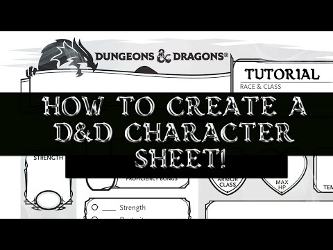 How to Make a D&D5E Character Sheet (D&D Tutorial)