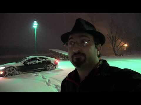 Tesla Snowy Ride Along Feb 2018
