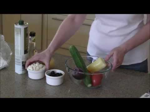 How To Make A Greek Salad With Feta Cheese