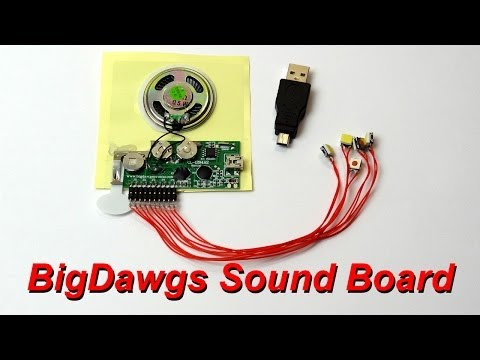 XRobots - BigDawgs Sound Board Review and Demo, for props, cosplay and electronics projects
