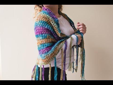 How to Crochet an Oversized Crochet Shawl