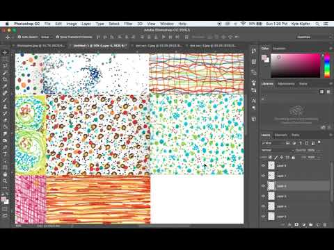 Assembling a Photo Collage of Scanned Images in Photoshop CC