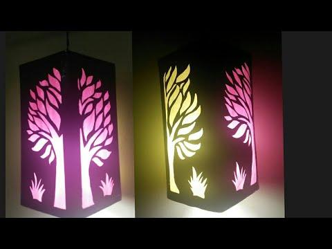 How to make DIY lampshade,Lantern for diwali,How to make akashkandil/lamp at home/art my passion 14