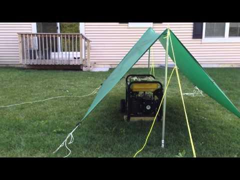Portable Generator Tarp Shelter