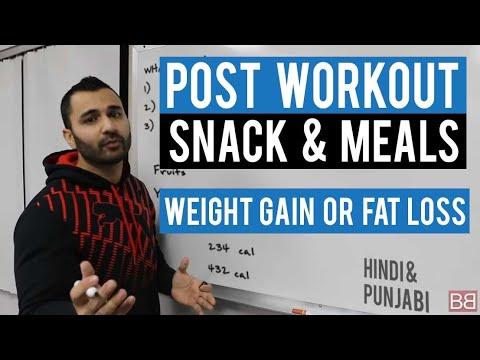 What to EAT AFTER EXERCISE (Post Workout)! (Hindi / Punjabi)