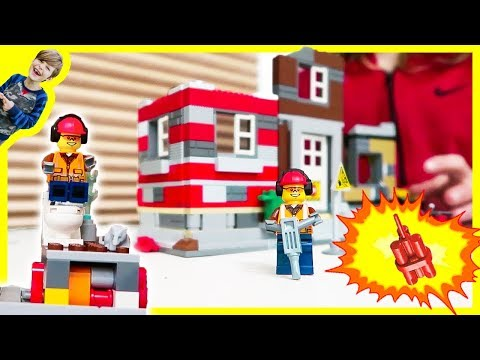 Lego City Toilet Explosion at the Construction Site!