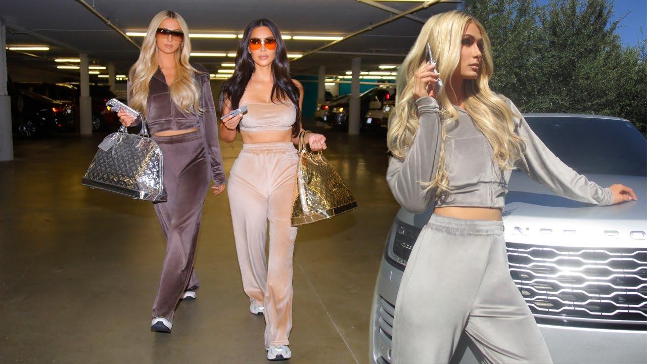 Paris Hilton & Kim Kardashian Reunited in Velour Tracksuits for new Skims Campaign