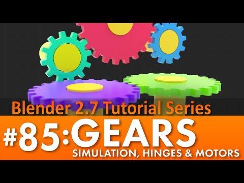 Blender 2.7 Tutorial #85: Gears Simulation #b3d