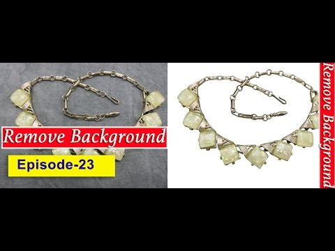 23. How to remove background of jewelry necklace I Adobe Photoshop cc quick tutorial
