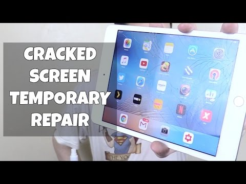 Temporary Repair for Cracked Screen