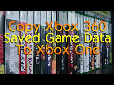 Copy Xbox 360 Saved Games/Data to Xbox One