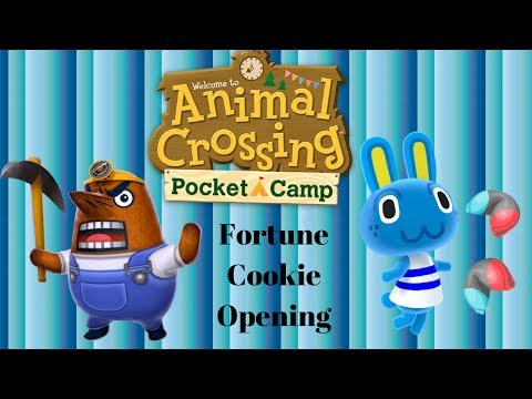 Animal Crossing: Pocket Camp 10 Hopkin's Game Fortune Cookie Opening (Don't Buy Leaf Tickets)