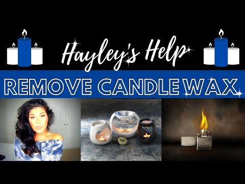 How To Clean and Remove Your Candle Wax Burners or Melts AMAZING HOME HACK! - Hayley's Help