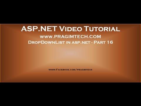Dropdownlist in asp.net   Part 16