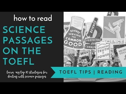 TOEFL Reading Strategies: How To Read Scientific Passages on the TOEFL