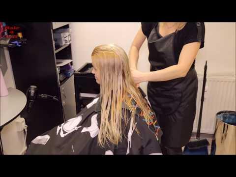 2017-44 Katka preview - mid-back long hair cut to bob