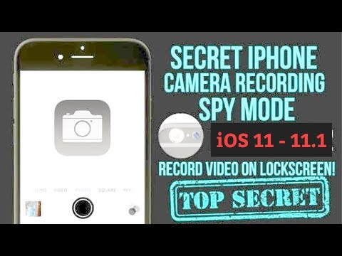 Record Video while Screen locked on iOS 11 hidden Camera feature in iOS 11 iPhone, iPad