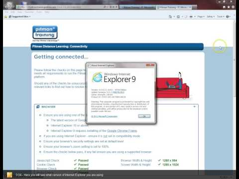 Checking version of Internet Explorer