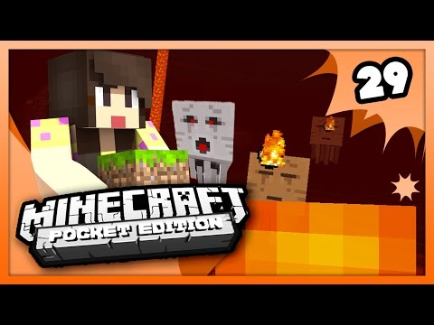 Minecraft PE (Pocket Edition) - THE NETHER DISASTER! - Survival Let's Play Ep. 29