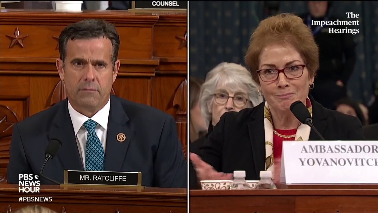 WATCH: Rep. John Ratcliffe's full questioning of Amb. Yovanovitch |Trump's first impeachment
