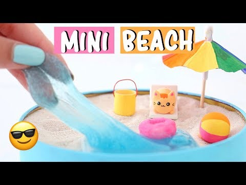 MAKING 7 AMAZING MINI BEACH ZEN GARDEN DIY - Water Slime & Squishies COMPILATION!