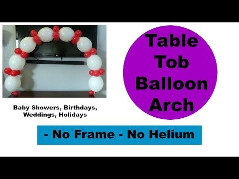 Table Top Balloon Arch – No Frame, No Helium